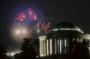 4th of July fireworks, jefferson memorial