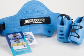 The AquaJogger® buoyancy belt gives you core strengthening and vertical lift while evenly distrubiting buoyancy.
