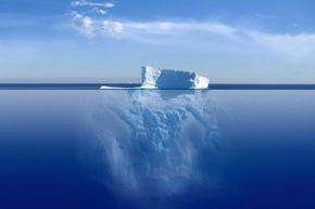 If you think of the Web like an iceberg, the huge section below water is the deep Web, and the smaller section you can see above the water is the surface Web.