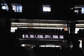 The National Debt Clock seen inside the Tampa Bay Times Forum before the Republican National Convention in August 2012. Back then the national debt was a mere $15.9 trillion.