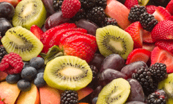 Sliced fruit is a healthy snack.