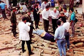 The body of Pablo Escobar on the roof where he died evading the Colombian (and possibly American) forces that eventually killed him.