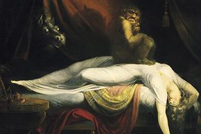 """An incubus squats atop a dreamer's chest in Henry Fuseli's iconic 1781 painting """"The Nightmare."""""""