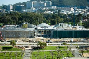 The academy that Renzo Piano built (aka the California Academy of Sciences) stays warm with denim insulation, among other green features.