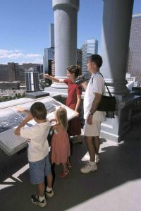 Photo courtesy ©2006 Denver CVB                              Visitors should take in the views of Denver from the rotunda of the state capitol building.