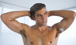 Lather up twice with your shampoo.