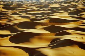 The Sahara Desert in Morocco.