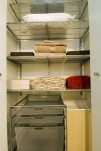 Add some drawers, too, for some hidden storage. Your guests don't need to see everything!