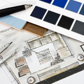A decorator will choose the colors, the furniture and the layout. A designer will do all of that, as well as decide where the walls, doors and windows go, too.