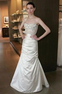 Image Gallery: Wedding Gowns A model wears Monique Lhuillier Bridal. See more pictures of wedding gowns.