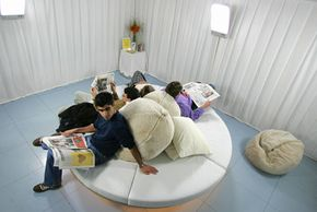 Light therapy can help combat Seasonal Affective Disorder (SAD). Visitors sit in the Light Lounge in London.