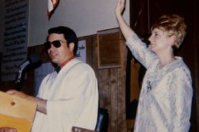 Jim Jones, leader of the People's Temple, was responsible for the deaths of more than 900 people at his Jonestown compound in Guyana in 1978.