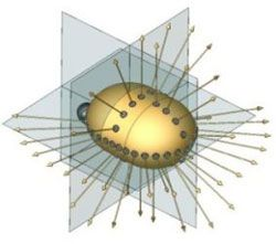 Geometrical array of DEPTHX's sonar sensor ability