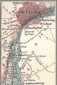 Detroit River Area map