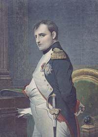 French Emperor Napoleon Bonaparte (1769-1821) in his study
