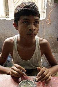 Indian children cut diamonds that are too small for adults' eyes and fingers.