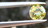 Photo courtesy LifeGem                              A LifeGem like this yellow diamond commemorates a deceased loved one.