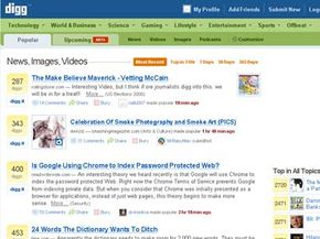 The Popular view in Digg shows the stories with the most Diggs. See more pictures of popular web sites.