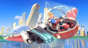 """According to director Steve Anderson and 3-D supervisor Kyle Odermatt, Lewis's arrival in the future in """"Meet the Robinsons"""" is the first moment in the film that uses maximum three-dimensional depth."""