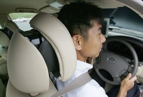 In 2006 in Japan, Toyota demonstrated some of its precrash features, including head rests that adjust to prevent whiplash.
