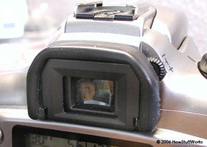 The viewfinder on our camera is through-the-lens, so we shouldn't have a problem with parallax.