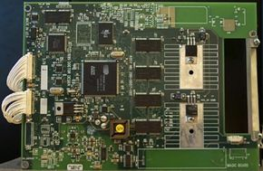 This circuit card contains all of the components that drive the digital picture frame.