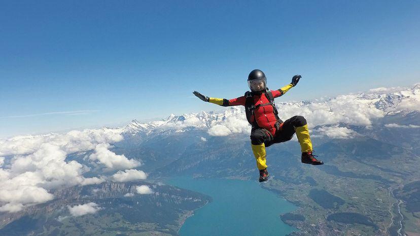 skydiving woman