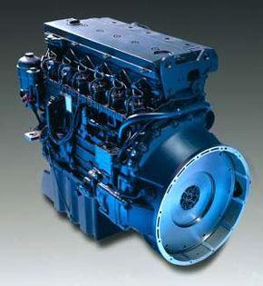 Photo courtesy DaimlerChrysler Atego six-cylinder diesel engine
