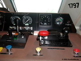 The brake and throttle controls