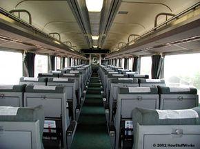 Inside a passenger car