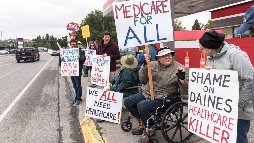 protesters, health care
