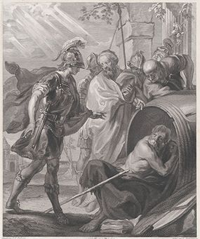 Alexander the Great sees Diogenes