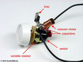 The guts of a basic dimmer switch