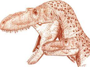 Albertosaurus with a juvenile