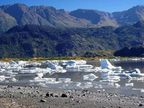 Scientists were at first puzzled out how a glacial lake like this one could abruptly disappear.