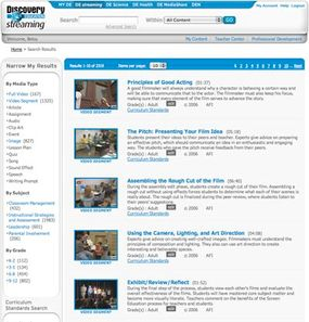 Teachers can search for the videos they need using keywords, grade levels and other search parameters.