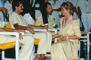 When Princess Diana was photographed having physical contact with AIDS patients, it helped to discount the misinformation that HIV was spread through simple touch.