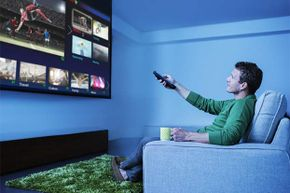 All that money you save from doing taxes yourself can be used  for something more fun -- like a really big TV.