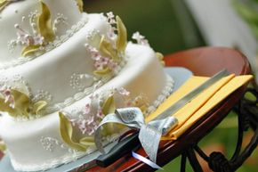 Looks like a piece of cake, right? See more wedding cake pictures.