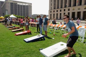 You may not realize that cornhole is incredibly popular -- as evidenced by this celebrity tournament in Nashville, Tenn.