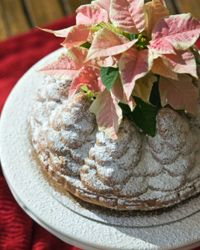Use your dessert as a centerpiece for your holiday table. It will be beautiful and unexpected.