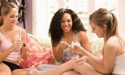 DIY pedicures are great for girls' night in.