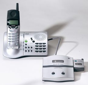 The Dock-N-Talk can be connected to a land line using a Bluetooth-enabled cell phone for wireless connectivity.