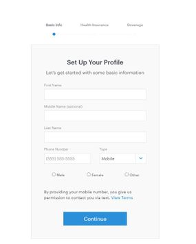 Setting up profile on Doctor on Demand