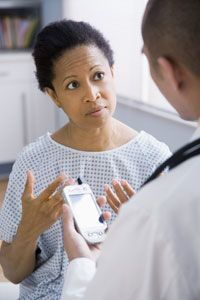 PDAs give health care professionals access to loads of medical information on the spot.