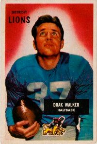 Doak Walker was originally                              drafted by the since-defunct                                            New York Bulldogs. See more                                            pictures of football players.
