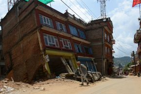 The jury's still out on whether dogs can actually predict earthquakes. Pictured here: Nepal after its earthquakes in spring of 2015.