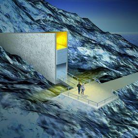Artist concept of vault entrance