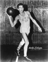 """Schayes was rejected by the U.S.  Army in 1950 because he was one inch taller than the admissible height of 6'7"""". See more pictures of basketball."""