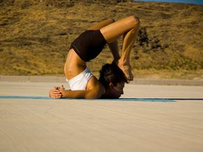 A little joint hypermobility might be helpful for desert yoga.